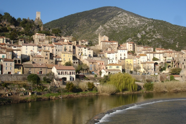 Roquebrun & river Orb